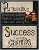 CHAMPS Behavior Management Mini Posters (Chalkboard and Burlap Theme)