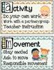 CHAMPS Behavior Management Mini Posters (Chevron Theme)