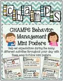 CHAMPS Behavior Management Mini Posters (Chevron Theme)