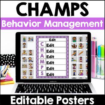 CHAMPS Behavior Management - Editable Notebook Version (PBIS)