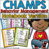 CHAMPS Behavior Management - Editable Notebook Version (PBIS)