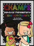 CHAMPS Behavior Management Poster Cards - Rainbow Themed
