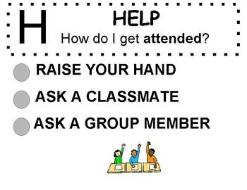 CHAMPS Behavior Management Poster (Grades K-8)- English   (PBIS)