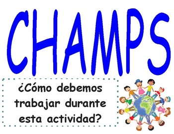 CHAMPS Behavior Management Poster (Grades K-8)- Spanish  (PBIS)