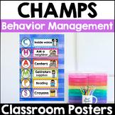 CHAMPS Classroom Behavior Management Signs (PBIS)