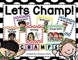 CHAMPS Behavior Management Signs