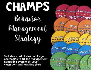 CHAMPS Behavior Management Strategy