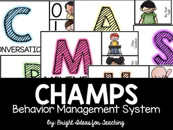 CHAMPS Behavior Management {picture cues}