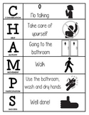 CHAMPS Behavior and Expectations Chart, Bathroom, B&W