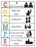 CHAMPS Behavior and Expectations Chart, Cafeteria