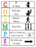 CHAMPS Behavior and Expectations Chart, Hallway