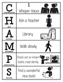 CHAMPS Behavior and Expectations Chart, Library, B&W