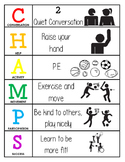 CHAMPS Behavior and Expectations Chart, P.E.