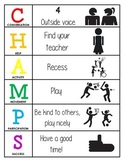 CHAMPS Behavior and Expectations Chart, Recess