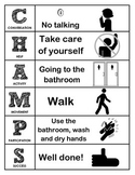 CHAMPS Behavior and Expectations Whole School Packet, Block Letters, B&W
