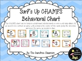 CHAMPS: Behavioral Chart: Surfing Themed EDITABLE