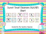 CHAMPS Behavioral Chart: Sweet Treat Themed EDITABLE