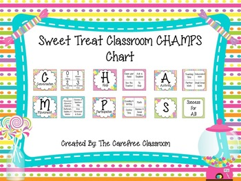 CHAMPS Behavioral Chart: Sweet Treat Themed EDITABLE