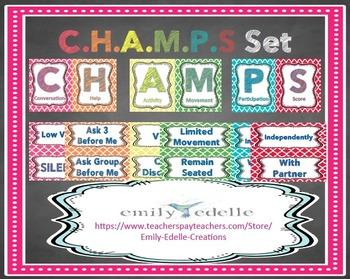 CHAMPS Board Set - EDITABLE