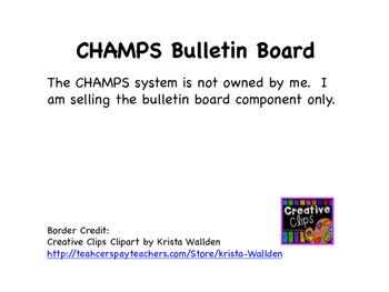 CHAMPS Bulletin Board
