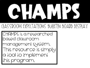 CHAMPS Bulletin Board Display