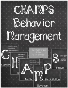 CHAMPS Bulletin Board Posters (Chalkboard)