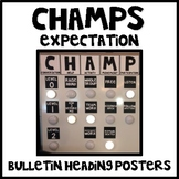 CHAMPS Bulletin Heading Posters