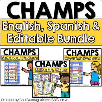 CHAMPS Bundle - English/Spanish/Notebook