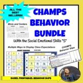 CHAMPS Bundles (2 Slides Options, 2 Printables, and Behavi