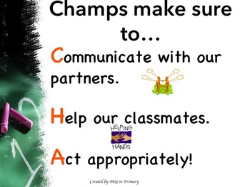 CHAMPS CHECK management poster