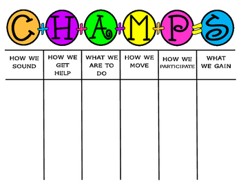 CHAMPS CLIPBOARD REMINDER