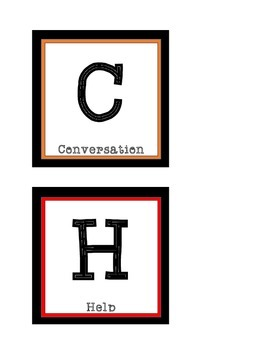 CHAMPS Cards (Pocket Chart Size)