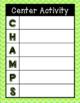 CHAMPS Centers/School Expectations Templates - Multi Color Chevron