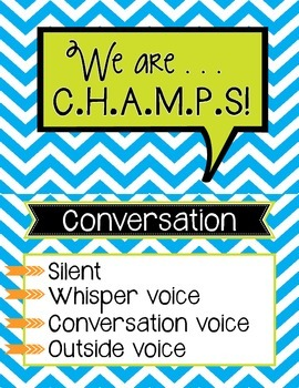 CHAMPS Chart Blue Chevron