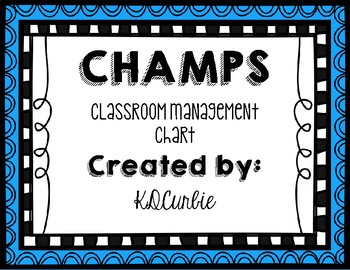 CHAMPS Chart/Bulletin Board Display