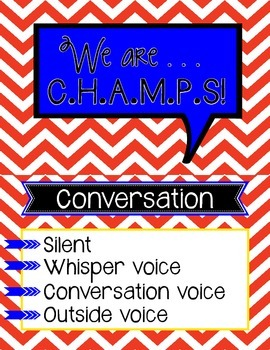 CHAMPS Chart Red Chevron