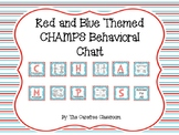 CHAMPS Chart: Red and Blue Themed EDITABLE