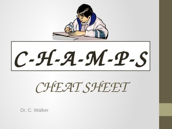 CHAMPS Cheat seat desk card