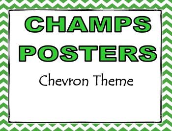 CHAMPS Posters Chevron Theme