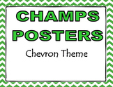 CHAMPS Posters Chevron Theme