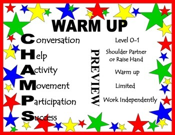 CHAMPS Posters & Classroom Decor Stars Theme