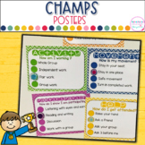 CHAMPS Classroom Behavior Posters- Editable