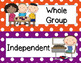 CHAMPS Classroom Management Cards in Polka Dots