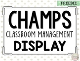 CHAMPS Classroom Management Display