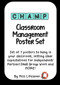 CHAMPS Classroom Management Poster Set