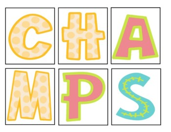 CHAMPS - Classroom Management Posters