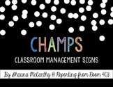 CHAMPS Classroom Management Posters - UPDATED with editable option