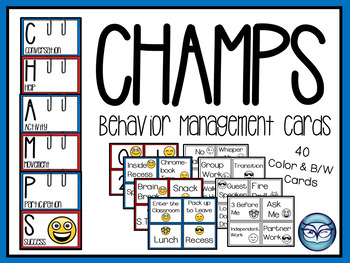 Champs Classroom Management Posters Emoji Theme By The Owl Spot