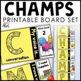 CHAMPS Classroom Management Posters for Back to School