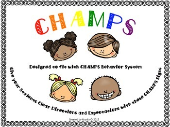 CHAMPS Classroom Management Signs